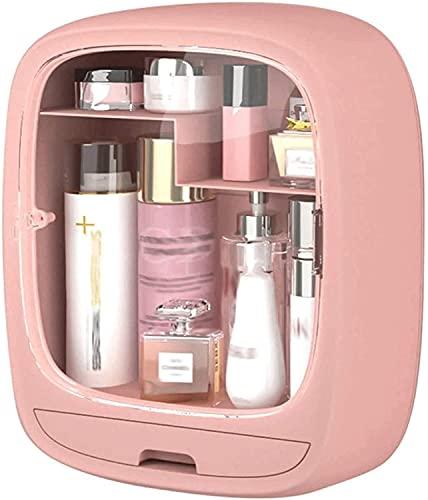 ZRDSZWZ Organizador de baño fiable para tocador y fregadero, organizador de maquillaje, práctico organizador de baño para cosméticos y accesorios, unidad de almacenamiento portátil de baño (color rosa