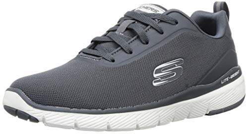 Skechers Herren Flex Advantage 3.0 Landess Sneaker, Grau/Anthrazit, 43 EU