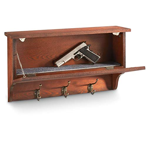 CASTLECREEK Gun Concealment Wall Shelf with Hooks