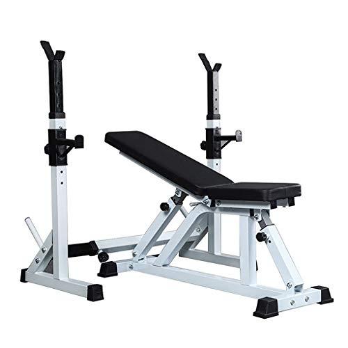 Squat Rack Haushalts Hantel Bank Multifunktionale Rücken Bauchmuskel Board Abnehmen Gewichtheben Bett (Color : Black, Size : 110 * 109 * 138cm)