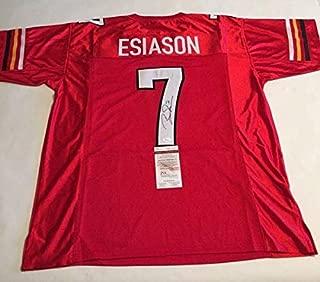 Boomer Esiason Autographed Signed Memorabilia Maryland Terrapins Jersey JSA Witnessed COA