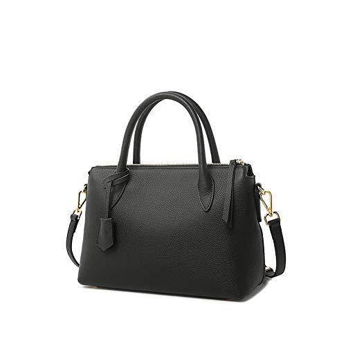 Mode lederen dames handtas, zachte grote capaciteit Messenger tas moeder tas boodschappentas Messenger tas, geschikt voor werk winkelen school zwart