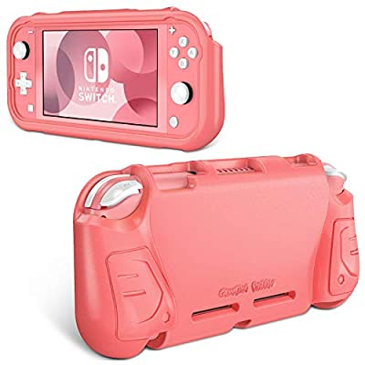 Fintie Case for Nintendo Switch Lite 2019 - Kids Friendly [Ultralight] [Shockproof] Anti-Scratch Protective Cover w/Ergonomic Grip Comfortable Grip Case for Switch Lite Console, Living Coral