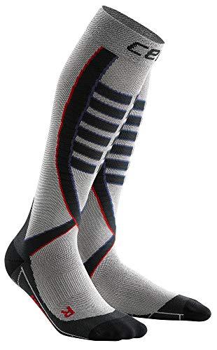 CEP Obstacle Run Socks für Damen   Mit Kompression für Erfolg beim Hindernislauf   hellgrau   Größe III