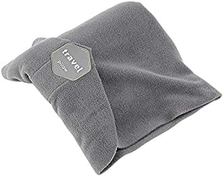airplane Travel Portable adjustable Travel Neck Pillow, Neck Support Pillow (Grey)