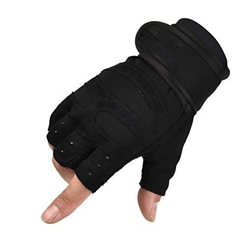 AFIT Guanti Palestra per Sollevamento Pesi, Protezione Completa del Palmo Grip Antiscivolo, Traspiranti Guanti per Ciclismo, Crossfit, Arrampicata, Pull-up, Fitness, Uomo e Donna (Nero, XL)