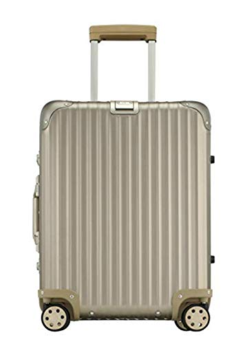 Rimowa Topas Titanium Carry on Luggage IATA 21' Inch Multiwheel 32L Suitcase - Champagne