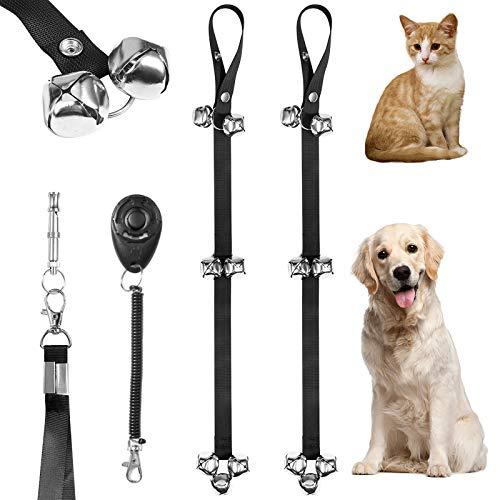 FAMKIT 2 campanelli per cani di alta qualità per addestramento del cane, campane per cani con porta regolabile, per addestrare il tuo cucciolo in modo semplice