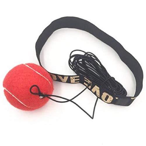 Boksreflexbal - Boksuitrusting Vechtsnelheid, boksuitrusting Ponsenbal Geweldig voor reactiesnelheid en handoogcoördinatie Training Reflexzakalternatief,Red