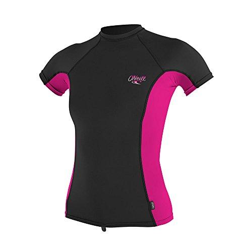 O'Neill - dames UV-shirt - korte mouwen - zwart/roze