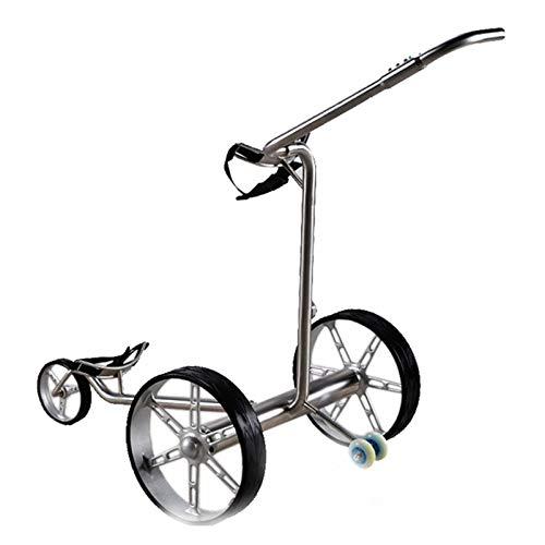 LY Stahl-Golftrolley Elektro-Golfcarts Golfwagen Elektrischer Golfcaddy Zusammenklappbar, Anzeigetafel,Edelstahl Regenschirmrohr,Getränkehalter, Handyhalter 52987