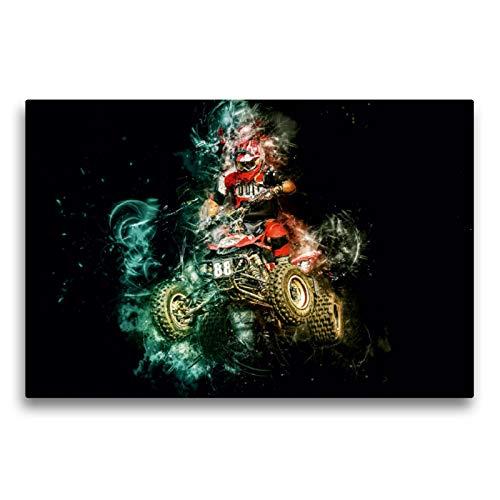 CALVENDO Premium Textil-Leinwand 75 x 50 cm Quer-Format Quad, extrem cool, Leinwanddruck von Peter Roder