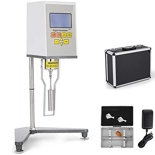 VEVOR Viskosimeter NDJ-9S Digitales Rotationsviskosimeter 10-600000000 mPa.s Viscometer Messen der absoluten Viskosität von Newtonscher Flüssigkeit in der Pharmazie und in der Klebstoffkosmetik