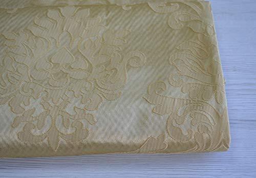 Imperial Tendaggi OFFERTISSIMA Taglio Tessuto Mis CM 170X280 Damascato Giallo Medaglione Versailles