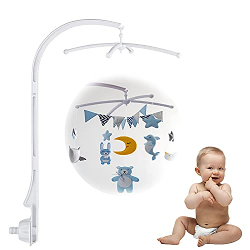 Soporte móvil para cuna de bebé, móvil y soporte, para colgar juguetes y muñecas, para cuna (sin juguetes ni caja de juegos)
