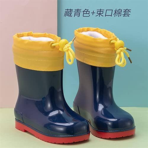 LUBINGT Rain Boots Children's Rain Shoes Girl's Cartoon Anti-Slip Kid's Rain Boots Water Shoes Baby Pink Black Shoe Boy's Rubber (Color : 19, Shoe Size : 30(Inner 20cm))
