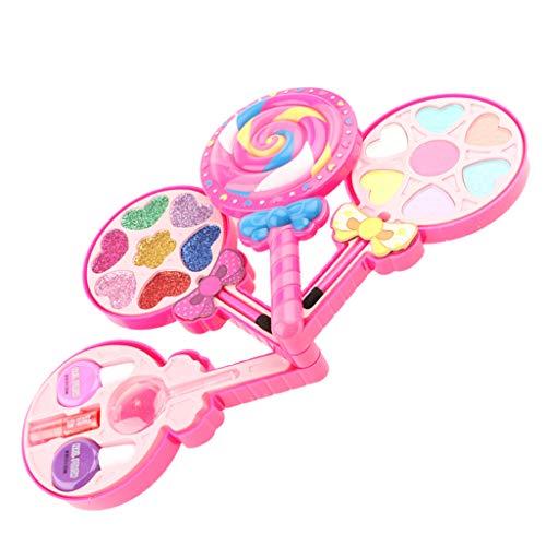 Bunte Kinder Schminkset Schminksachen Schönheit Prinzessin Mädchen Rollenspiel Spielzeug Pretend Makeup Kit - Bonbons