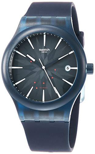 Swatch Orologio Analogueico Automatico Uomo con Cinturino in Silicone SUTN404