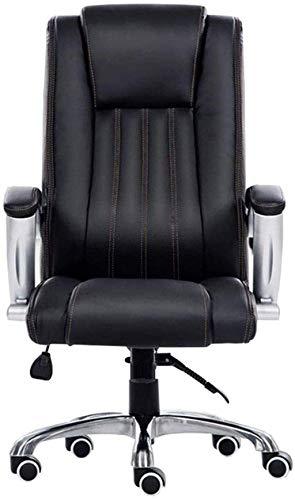 XiYou Silla giratoria Silla para Juegos Silla de Escritorio para tareas Computadora de Carreras Silla de Oficina Silla de Jefe Sillón (Negro)