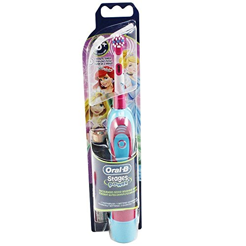 Braun Oral-B Stages Power Kids cls Batterie-Zahnbürste Kinder DB4.510.K Disney Prinzessin Princess Cinderella + Timer