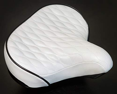 Fito Made in Taiwan, GS Beach Cruiser Comfort Retro City Bicycle Saddle Seat (White)