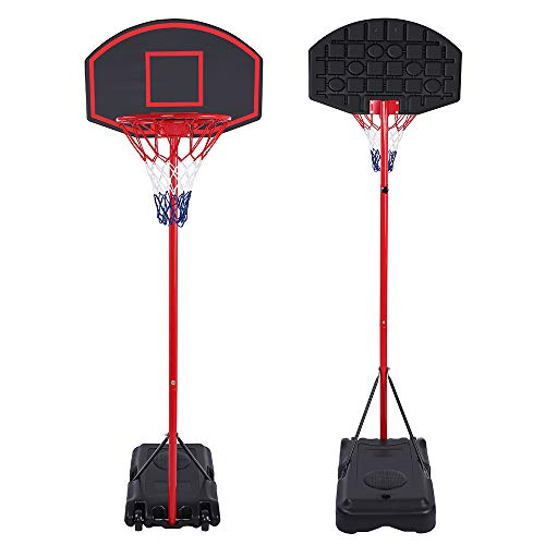 Great Price! SUR-SOUL Portable Basketball System Hoop Stand, Removable Adjustable Teenager Basketbal...