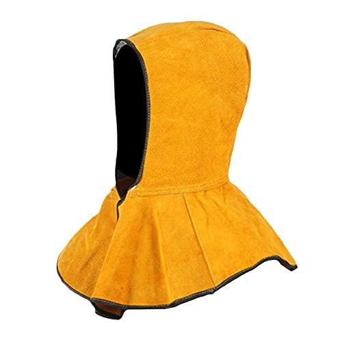 Yves25Tate Flammhemmende Kopfhaube Helm Gesichtsschutz Leder Waschbar Flammhemmende Schweißnaht Gesichtsschutzhaube Voller Schutz Für Alle Arten Von Schweißhelm