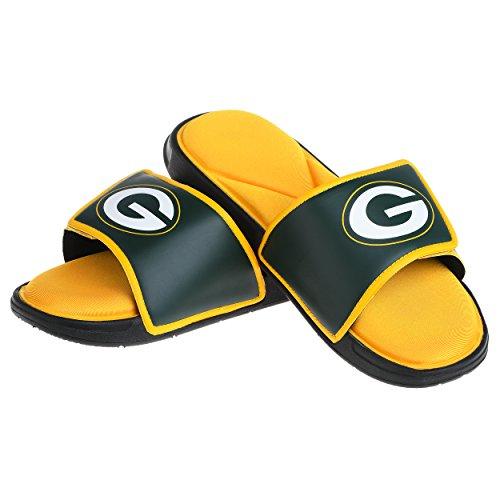Green Bay Packers NFL Mens Foam Sport Slide - L