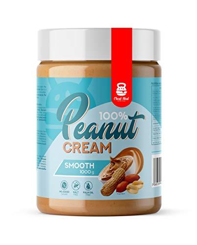 Cheat Meal Peanut Cream 100% 1er pack x 1000g – Erdnusscreme - Erdnussbutter - ohne Zusatzstoffe - 100% Geröstete Erdnüsse (Smooth)