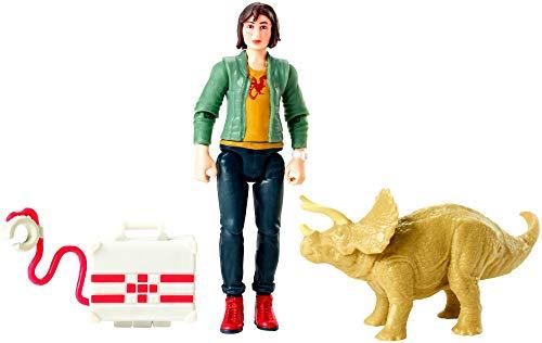 Mattel Jurassic World FMM08 - Zia und Triceratops Actionfigur
