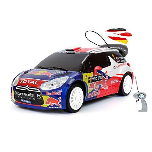 Himoto HSP Veicolo radiocomandato con licenza originale, compatibile con Citroen DS3 WRC Rallye, modello BAU scala 1:16, auto auto, set completo con telecomando