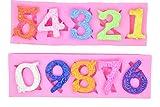 Molde de silicona para cumpleaños con diseño del alfabeto número 0 – 9 3d con agujero para el labio, para decoración de tartas de chocolate, cumpleaños, aniversario