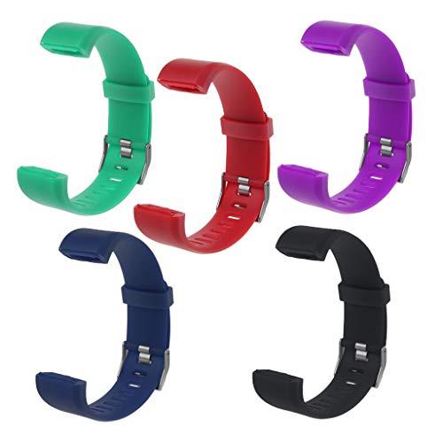 Ersatz-Armband für Fitness-Tracker ID115 Plus Uhrenarmband aus Silikon rot