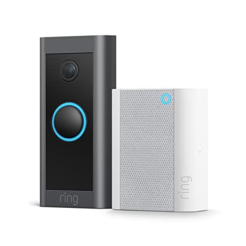 Te presentamos el Ring Video Doorbell Wired + Chime de Amazon | Vídeo HD, detección de movimiento avanzada e instalación mediante cableado | Prueba gratuita de 30 días del plan Ring Protect