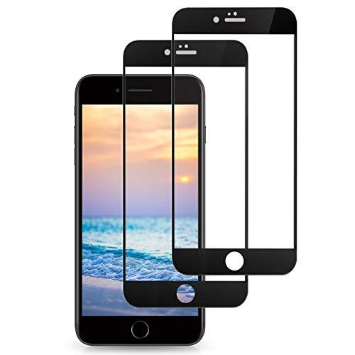 Svanee Protector de pantalla para iPhone SE 2020 / iPhone 7 / iPhone 8, [2 Piezas] [ Dureza 9H, Sin Burbujas, Cobertura completa] película de vidrio templado para iPhone SE / 7/8 (4.7 Pulgadas)