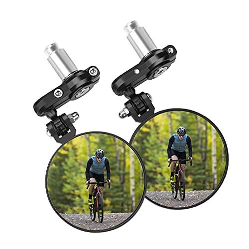 2 Pack Bike Mirror, 360 Degree Adjustable Handlebar Bike Rear View Mirrors For Mountain Road Bike Bicycle Electric Motorcycle