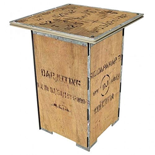 Säulentisch TEEKISTE von Werkhaus Beistelltisch Design & Klassisch Tisch 0041