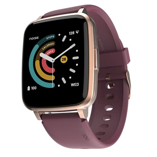Noise ColorFit Pulse Smartwatch with 1.4' Full Touch HD Display, SpO2, Heart Rate, Sleep Monitors & 10-Day Battery - Deep Wine