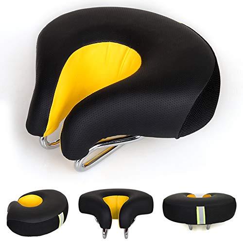 Nasal Bike Saddle - Cojín corto para bicicleta de montaña, color amarillo