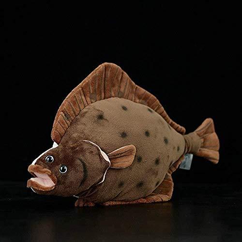 NC88 42 cm realistisk simulering rödspätta leksak marin plysch mjuk platt fisk dockor fiskar tropisk standard