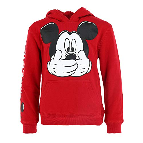 Jerry Leigh Disney Mickey Mouse Little & Big Boys Hooded Sweatshirt (L (10/12)) Red