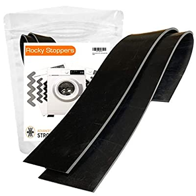 Washing Machine Vibration Mat - Universal Fit for Washing Machine & Tumble Dryers - Anti Damping – Noise/Movement Reduction – Floor Protection – Industrial Grade Rubber