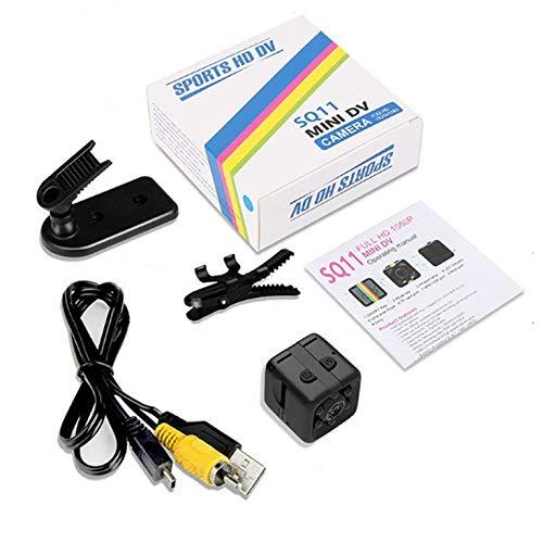 FYstar SQ11 Mini-Mikro-Kamera, Würfel, Video, Nacht, 1080p, 960p, Camcorder, Bewegungssensor, Kamera, Monitore, WLAN-Fernbedienung