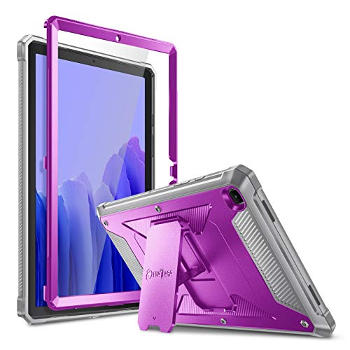 FINTIE Funda para Samsung Galaxy Tab A7 10.4' 2020 - Carcasa Dura Antichoque con Soporte y Protector de Pantalla Incorporado para Modelo SM-T500/T505/T507, Morado