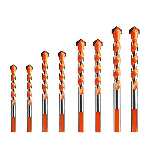 Brocas Para Juego de bits multifuncionales de broca de construcción para mármol cerámico de vidrio de azulejo-_8pc3 4 4 5 5 6 6mm