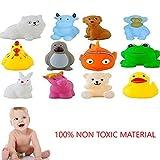 Jiada Chu Chu Bath Toys for Baby Non-Toxic Toddler Set of 12 Multi