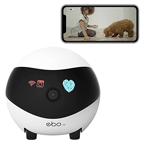 Enabot Ebo SE Cámara móvil de seguridad para el hogar, cámara de vigilancia 1080P, cámara IP domo con visión nocturna, crucero automático, carga automática, detección de movimiento,audio bidir