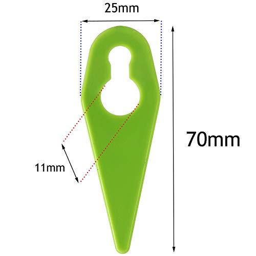Nanlaohu 40 x Plastic Cutter Blades for GTECH ST05 ST20 GT3.0 GT4.0 Grass Trimmer