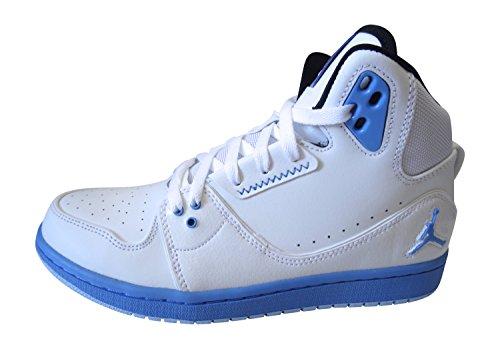 Nike Air Jordan 1 Flight 2 da Uomo Scarpe Sportive Alte 555798 Scarpe da Tennis - Bianco Legend Blu Nero Ice Blu 109, 7.5 UK / 42 EU / 8.5 US