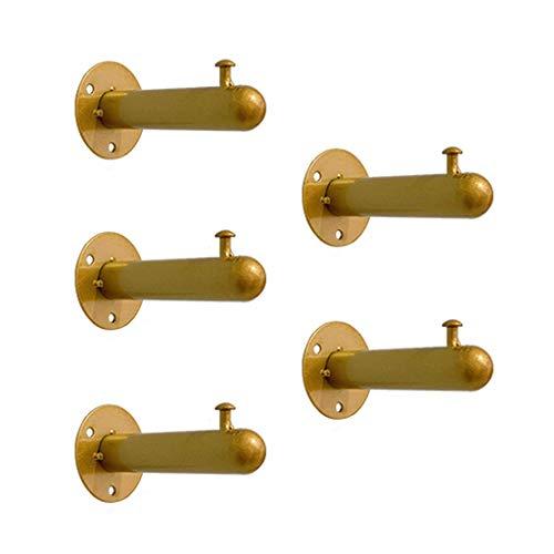 FF Multipurpose haken Coat rack haken voor het vasthouden aan de muur Corridor Kleding Hoed Kleine haken Badkamer rekken Metalen scheidingswanden Slaapkamer Keuken Opslagrekken (Kleur: goud, grootte: 3 haken)